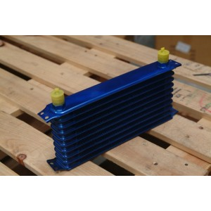 Brand new 10 row oil cooler in blue