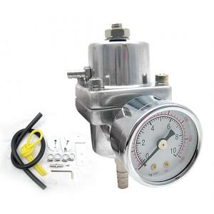 NEW Adjustable Fuel Pressure Regulator + Gauge
