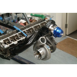 BRAND NEW RB20 / RB25 MILD STEEL TURBO LOW MOUNT MANIFOLD WITH WASTEGATE PORT !